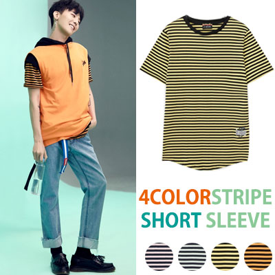 [8SECONDS]/2017ss 8 X GD's PICK(正規品)STRIPE SHORT SLEEVE T-SHIRTS GD collaboration