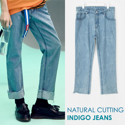 [8SECONDS]/2017ss 8 X GD's PICK(original)BLUE PIPING INDIGO DENIM PANTS GD collaboration