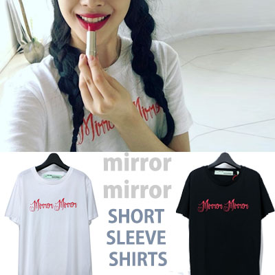mirror mirror SHORT SLEEVE SHIRTS/SEOL RI st