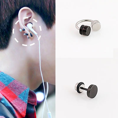 * Korea idle Fashion * Bangtan Boys BTS STYLE Matthew 1 piece earrings (2 TYPE)