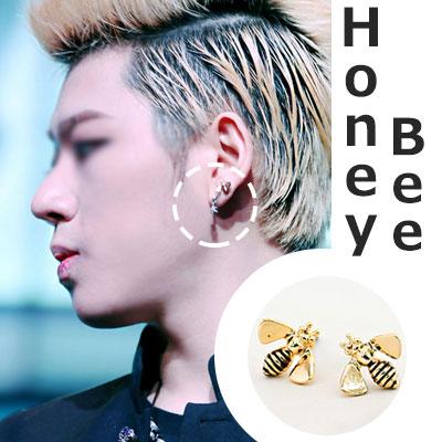 ZICO wear Korean popular idol Block B Style ~! Cute ~! Bee earrings