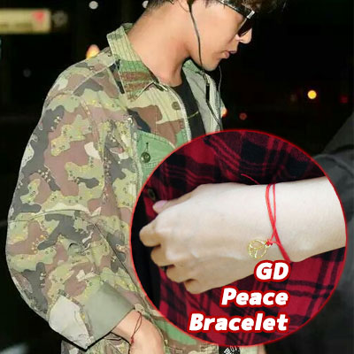 ★★SALE★★Peace medal red Bracelet that G-dragon style !!! wishes of the Big Bang come true