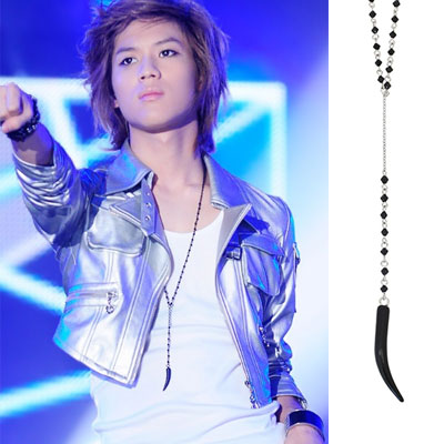 SHINee Tae min ITEM |! Korea idle fashion unique beads Onyx Necklace