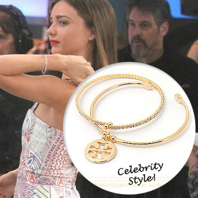 Celebrity style !! ☆☆ international celebrities favorite items cubic bangle & TB st. Logo bangle set (3color)