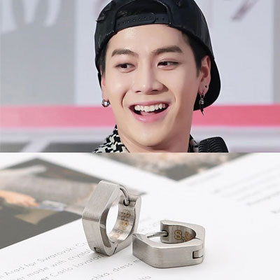 GOT7 ITEM | Grant One Touch earrings made in South Korea popular idol GOT7 wear style accessories point (3color)