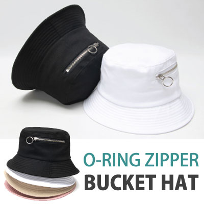 O-RING ZIPPER BUCKET HAT