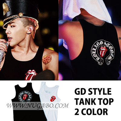 ★50%OFF★$16.7->$8.38★Favorite rolling print tuck Top G Dragon of Nugabo recommended ★ Big Bang concert