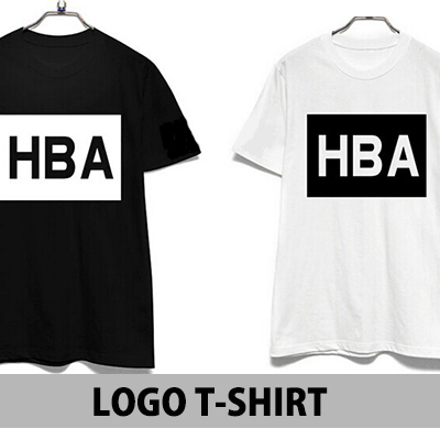 ★DAY SHIPPING★ International celebrities favorite street fashion HB @ style box logo over printing short sleeve T-shirt (3Color · unisex)