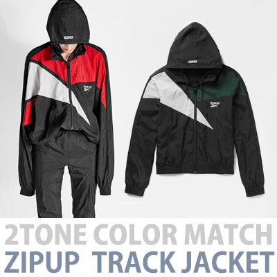 [2017 fw Restock]2TONE COLOR MATCH ZIPUP TRACK JACKET