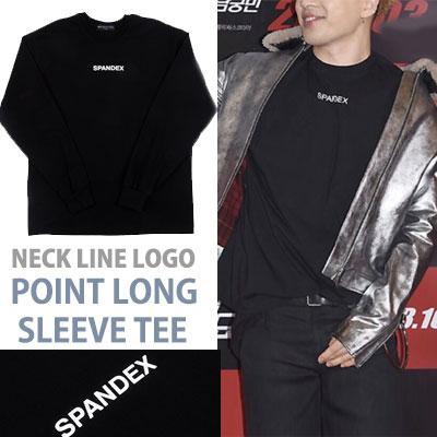 BIGBANG SOL st. NECK LINE LOGO POINT LONG SLEEVE SWEATSHIRTS