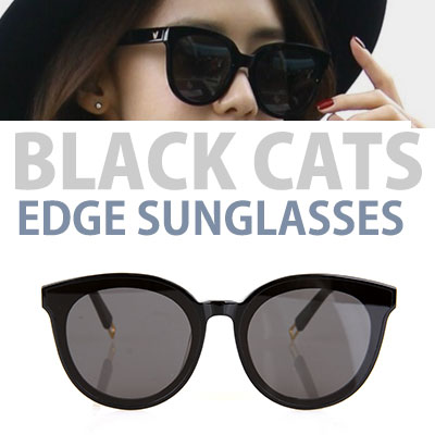 LUXURY STYLE! SNSD GONGYU st! BLACK CATS EDGE SUNGLASSES