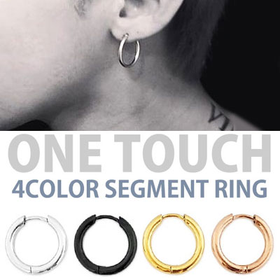 G-DRAGON,SOL,BTS ㅏK-POP IDOL st! ONE TOUCH 4COLOR SEGMENT EARRING