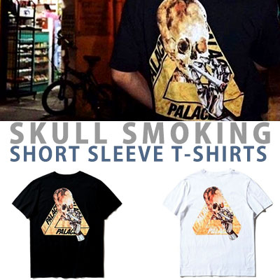 SKULL SMOKING SHORT SLEEVE T-SHIRTS