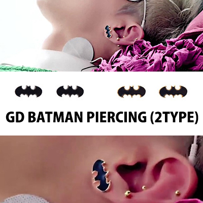 GIYONGHY of crayon (crayons) PV in wearing Batman earrings / BIGBANG / G-DRAGON / Ji earrings