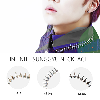 "INFINITE Kim Sung-kyu solo debut album cone necklace you gave in ""Another Me"" jacket shooting (3 colors)"