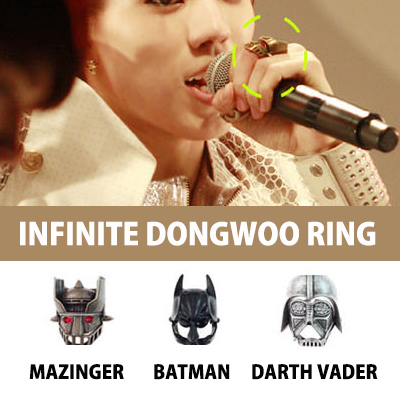 INFINITE Dong is Mazinger (Mazinger) ring wearing at the time of the Japan debut of (Infinite)