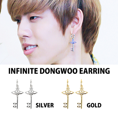 INFINITEスタイル★Simple Planet Earring, Non-Piercing