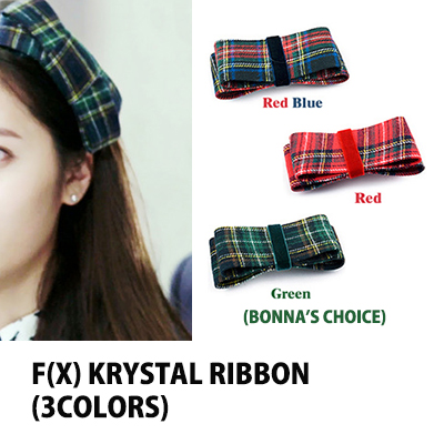 "Korea Drama RENACHRIS check ribbon Valletta ""The Heirs"" f (x) Crystal wore (3color)"