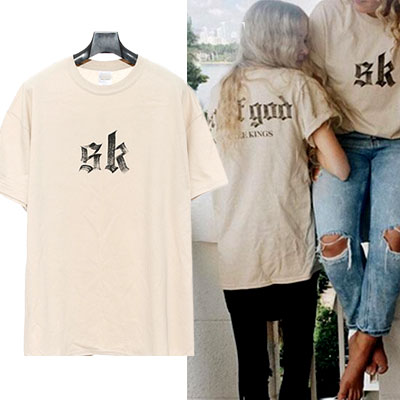 SK LOGO POINT CALLIGRAPHY SHORT SLEEVE T-SHIRTS