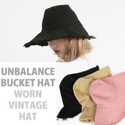 UNBALANCE BUCKET HAT WORN VINTAGE HAT