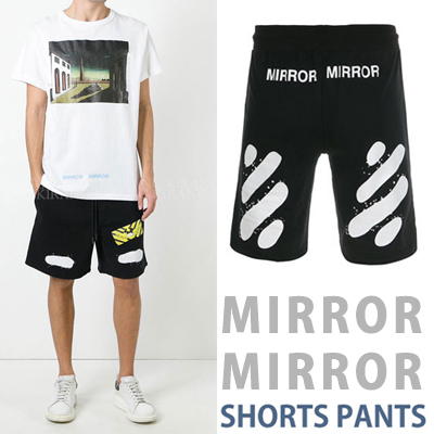 MIRROR MIRROR LOGO SHORTS PANTS