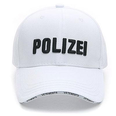 POLIZEI LOGO WHITE BALL CAP