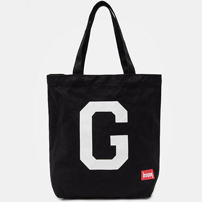 [50% Sale][8SECONDS]/2017 SS 8 X GD's PICK (正規品)GD LETTERING CANVAS ECO BACK BLACK/G-Dragon GD COLLABORATION