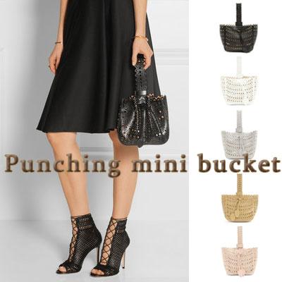 PUNCHING MINI BUCKET/TOTE BAG