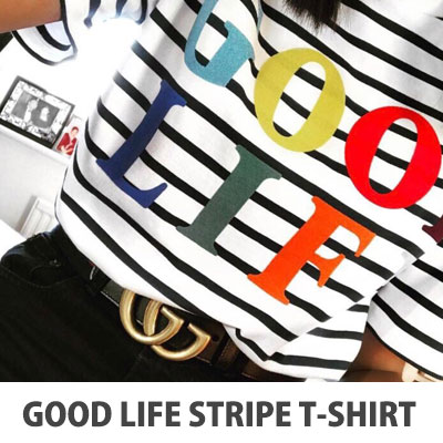 【FEMININE : BLACK LABEL】2017 S/S GOOD LIFE STRIPED T-SHIRT