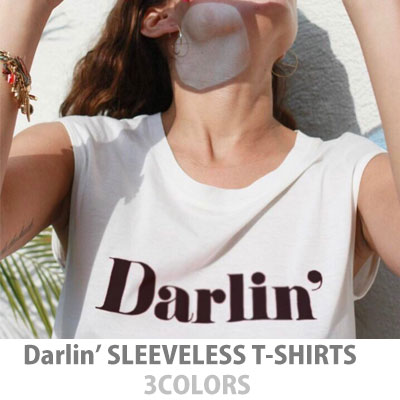 【FEMININE : BLACK LABEL】Darlin 'PRINT SLEEVELESS T-SHIRTS/3COLORS