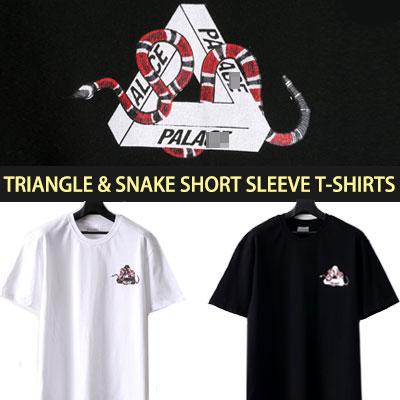 TRIANGLE&SNAKE SHORT SLEEVE T-SHIRTS
