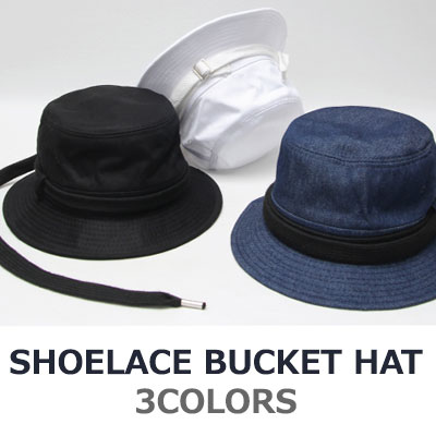 SHOELACE HAT/BUCKET HAT/3COLORS
