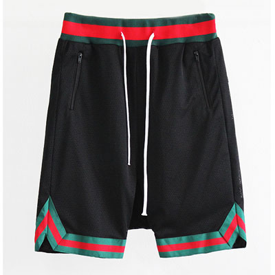RED AND GREEN LINE MESH SHORT PNATS