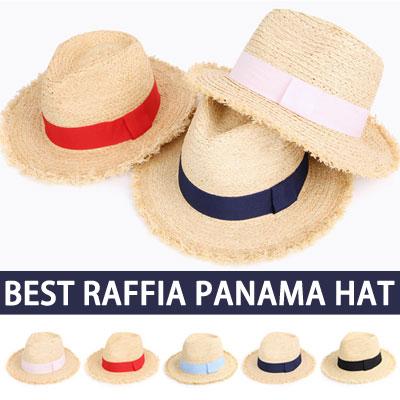 BEST RAFFIA BASIC SIMPLE PANAMA HAT