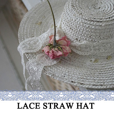 Lace band bucket hat / straw hat / Panama hat / floppy hat