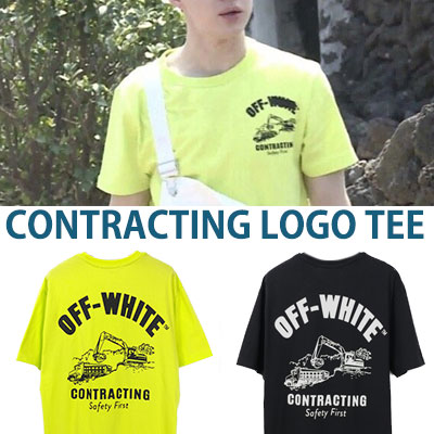 k-pop idol super junior henry st! CONTRACTION LOGO SHORT SLEEVE T-SHIRTS