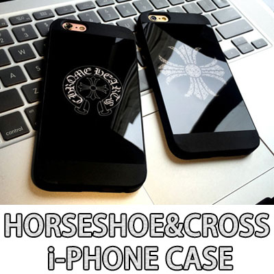 Horseshoe & Cross Mirror Phone Case/6s&6s plus/7/7 plus