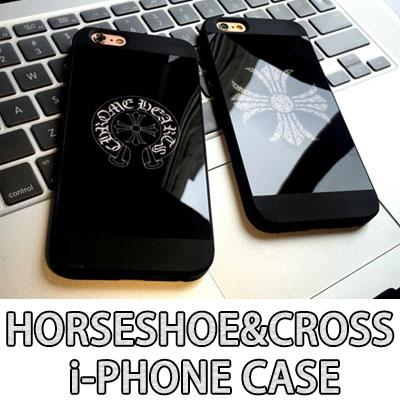 Horseshoe & Cross Mirror Phone Case/6s&6s plus/7/7 plus