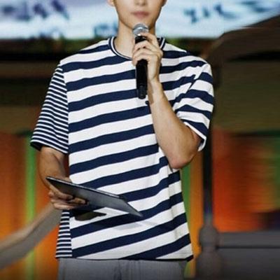 actress SONG JOONGKI st.2TYPE STRIPE SHORT SLEEVE T-SHIRTS