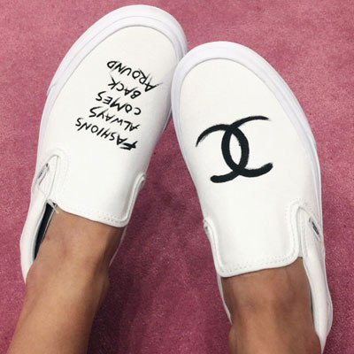 VANS original! TWIN C LOGO & CALLIGRAPHY