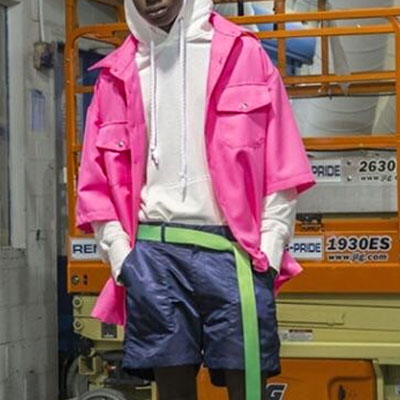 SHORT WINDBREAKER OVERSIZE SHIRTS