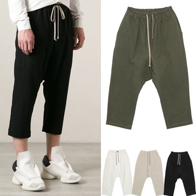 ★再入荷★RIC STYLE!NATURAL LINEN CROP BAGGI PANTS(BLACK,WHITE,KHAKI,BEIGE)