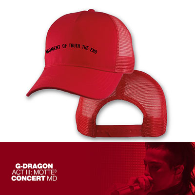 【Official Goods】[MOTTE]  G-DRAGON MESH CAP