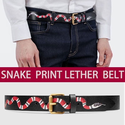 [luxury style] SNAKE LEATHER BELT