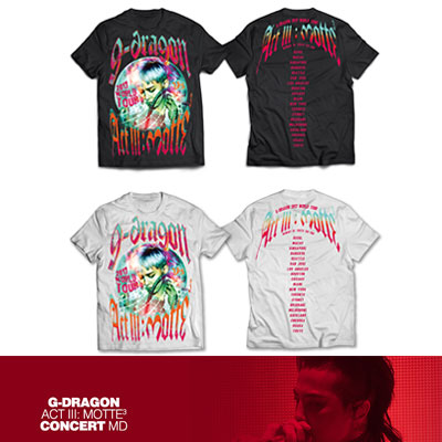 【Official Goods】[MOTTE] G-DRAGON T-SHIRTS TYPE 2, BLACK/WHITE