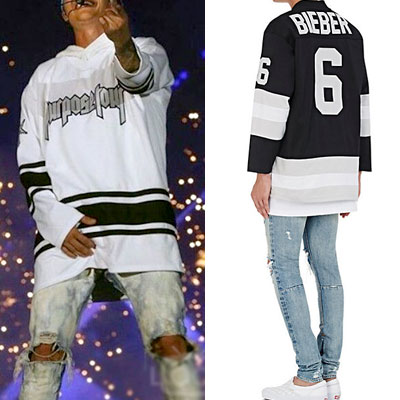 Justin Bieber/PURPOSE LOGO MESH HOCKEY JERSEY T-SHIRT