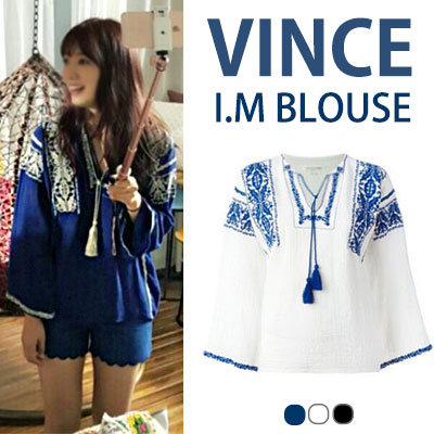 I'M VINCENT BLOUSE(WHITE,BLACK,BLUE)