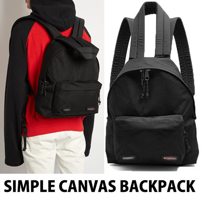 SIMPLE CANVAS BACKPACK (BLACK)