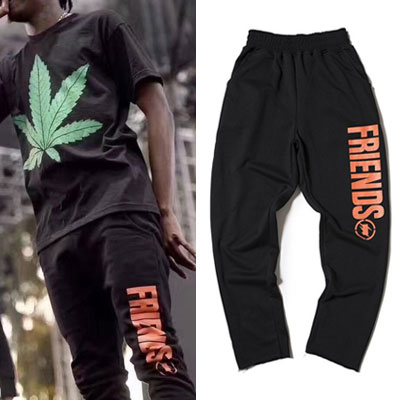ORANGE SIDE LOGO JOGGER PANTS