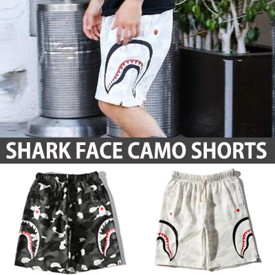 SHARK FACE CAMO SHORTS PANTS/Justin Bieber